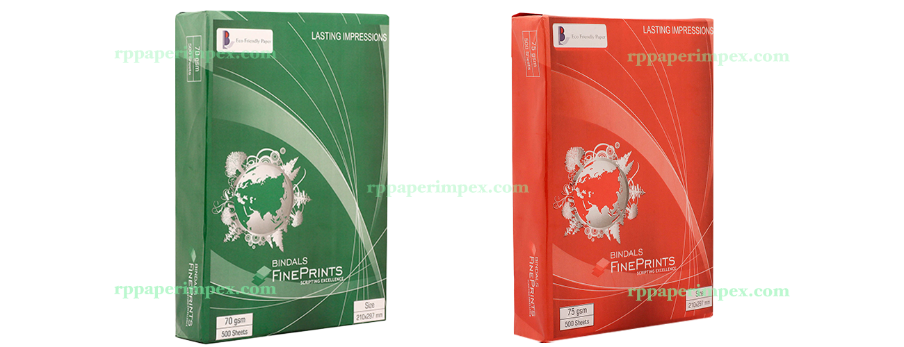 A4 70 75 GSM Bindal Fineprint Copy Paper Copier Office Supplier Exporter