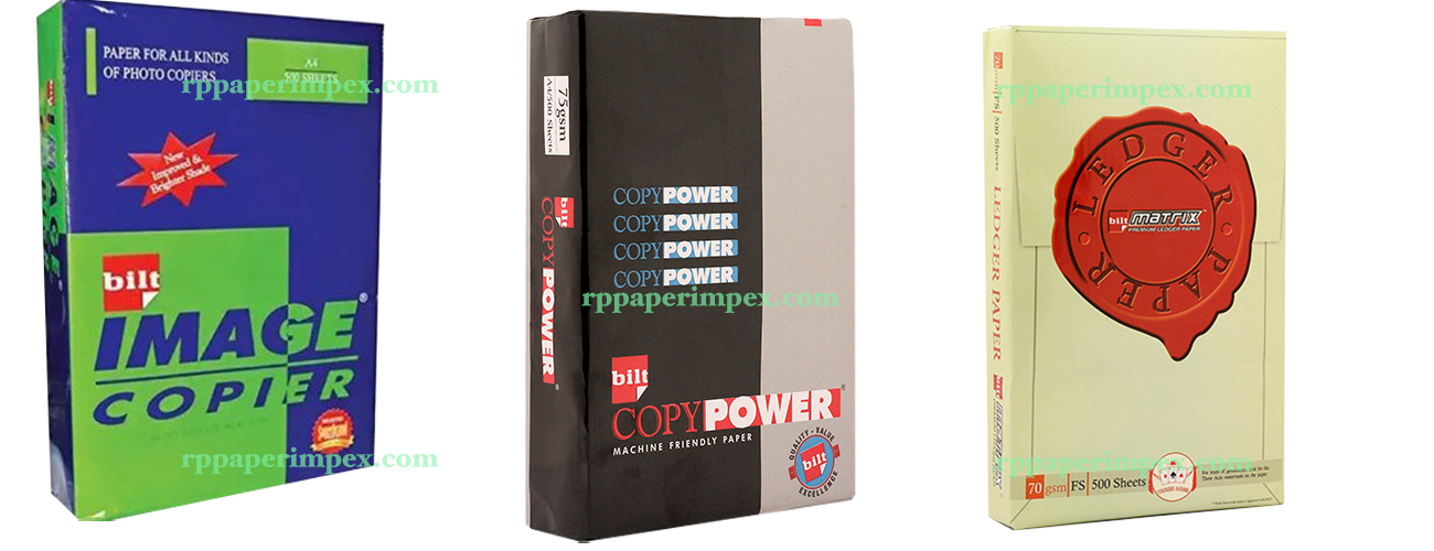Bilt Ballarpur Copy Paper Copier 70 75 80 GSM Image Power Ledger Sellet Supplier